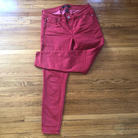 d9ccc46baf5 Plus Size Red Skinny Jeans
